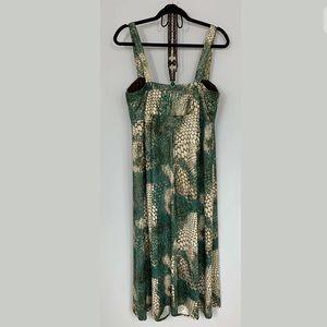 Roz & Ali Dresses - Size 12▪️SHIMMERY SNAKESKIN PRINT MAXI DRESS